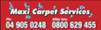 Logo for Maxi Carpet Services