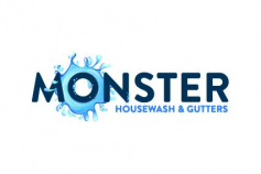 Monster Housewash and Gutters logo