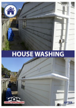House washing services - Cleaning house and building exteriors extends the life of paintwork.