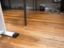 Commercial Flood Damage - Water damage to wooden floors on a commercial property