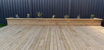 Deck with planter box by Ace Of Spades Limited