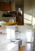 Before and after shots of a Beach Haven kitchen renovation done by Add Value