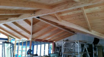 Titirangi - Top notch roof framing and sarking. This became a special part.