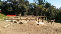 Titirangi - The new foundation for the house on it's way.