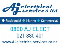 Site sign of AJ Electrical