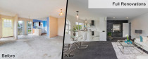 House Renovation - Before and after photos of house renovation by Auckland's building company Alder Homes Ltd