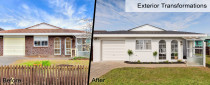 House Renovations - Amazing Before and after photos of house exterior renovation by Auckland's building company Alder Homes Ltd