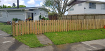 Aries Fence Job Papakura - Fence damaged by car. Put a new one