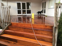 decking - Re clad of kwila decking on a rental property