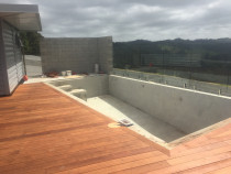 pool/decking - Concrete pool installed with kwila deck surround