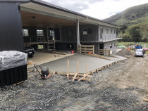 Farm Barn - Concrete aprons poured out front of 750 sqm farm barn