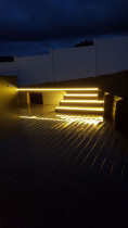 Astero Electrical Installed LED lights for garden steps