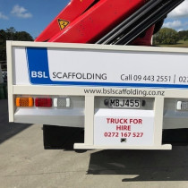 HIAB FOR HIRE - BSL SCAFFOLDING LTD AUCKLAND