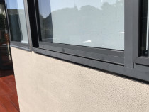 BEFORE - Tired & Faded Aluminium Joinery - See below for the AFTER picture - We apply State-of-the-art Nano-Clear® Technology to give your old aluminium joinery a fresh new look without replacing your joinery! 