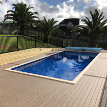 Composite decking and Moduline pool fencing
