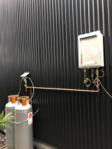 Gas Installation - Gas hot water done on a new build in Mangawhai