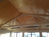 Onehunga building - Birch ply ceilings with 5mm negative detail