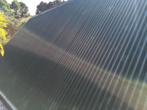 Corrugated roof wash after cleaning