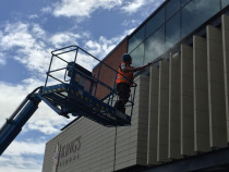 Commercial building wash - Kings school Remuera post construction wash down