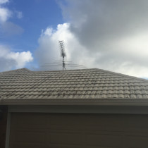 Pressed metal roof before cleaning