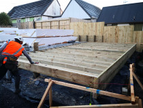 Sub-floor framing - Pole foundation built on sloppy land, all sub-floor framing are treated and using stainless fastenings