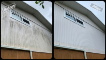House Soft Wash - Before & After Shots - Exterior House Wash