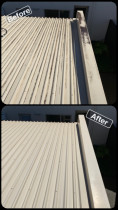 Roof Clean/Waterblasting - Before & After Shot - Exterior House Wash