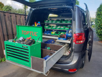 A new Van - Keeping things organised is my number one mantra. How can one be successful at ones work if ones tool box is messy.