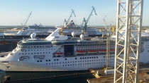 Royal Caribbean Ship In Drydock - Drydock refrigeration overhauls in Bahamas by Go Cold Refrigeration Services Ltd.