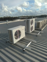 Commercial Ducted HVAC System byGo Cold Refrigeration Services Ltd - 15kw & 7kw units installed on rooftop for commercial ducted hvac system using Temperzone products.