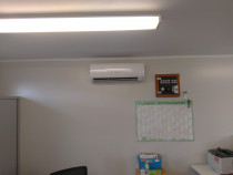 Commercial Heat Pump Installation by Go Cold Refrigeration Services Ltd - Hitachi heat pump installed at KiwiRail office depot in West Auckland