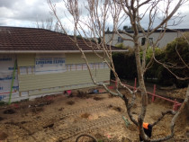 Mairangi Bay North Shore - Reclad and excavation getting ready for new 60 sqm Garapa deck.