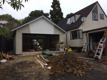 Browns Bay North Shore - New Double garage nearing completion