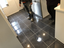 600x300 tiles on kitchen floor - Recent 17m2 kitchen floor done my HEK