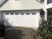 Flatline Appliance White with Colonial windows - Installation by Hibiscus Garage Doors