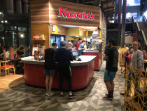 Tiling to nando's chicken Nee Hoyts in Christchurch city by JSR Tiling Ltd