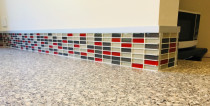 Coloured glass  Mosaics by Just Splashbacks - Female Tiler