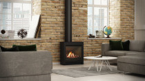 Escea DFS730 - The freestanding DFS730 is designed as a modern gas fire replacement for an existing freestanding wood burner, or for installing into a room where you do not have enough wall space for an inbuilt fireplace.