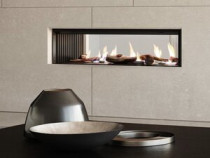 Rinnai Linear 1000 - All fires in the Linear collection are available in both single and double sided variants.