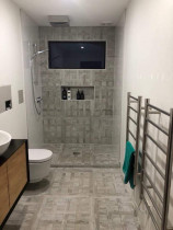 bathroom wall and floor (shower) by Kevin Tiling