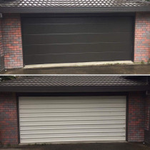 Before and After Knight Garage Doors