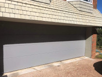 New Install - Flat Embossed in Sandstone Grey by Knight Garage Doors