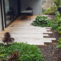 Macrocarpa decking by Lakeside Landscapes