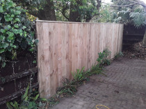 Small fence job - Law landscapes completed this small fence job for a customer Wendells Property Management.