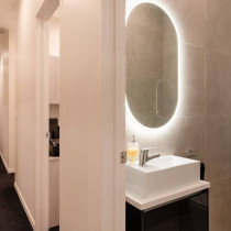 Bathroom LED mirror lighting by Lux Electrical in Auckland