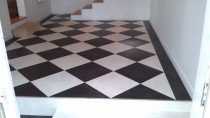 Laminate Vinyl Tiles, Laid on 45 with Border by Marson Flooring Ltd