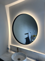 Renovation in Orakei - Backlit mirror in bathroom