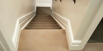 After completing - This is after completing the skirtings and painting.