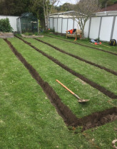 The start of a very clean drainage installation in Tawa! - No dirt in sight, super tidy!