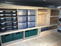 New Van shelving North Shore Plumbing - We are always trying to be better organised!